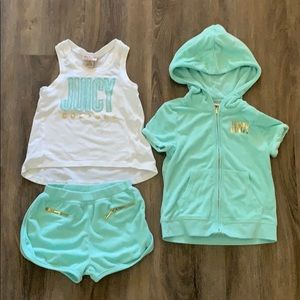 Juicy Terry cloth mint outfit